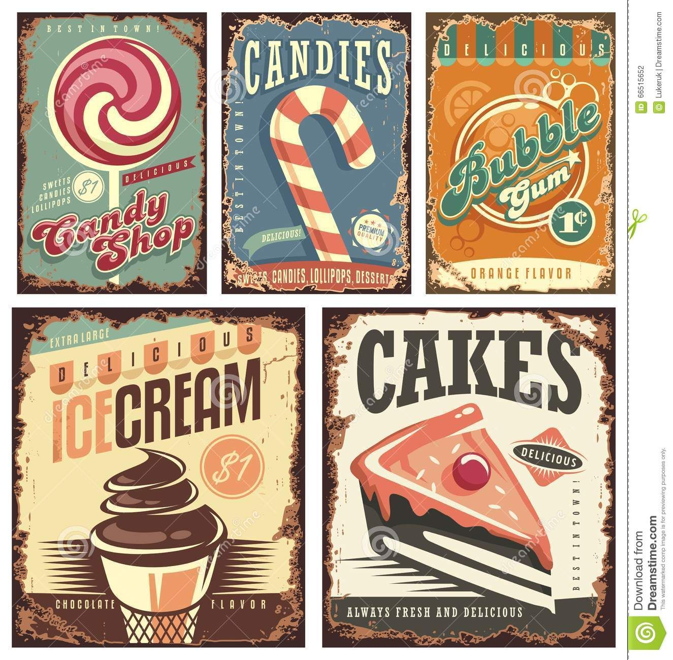 prints art vintage candy poster