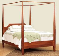 33 Off English Shaker Poster Bed In Rustic Cherry With Images