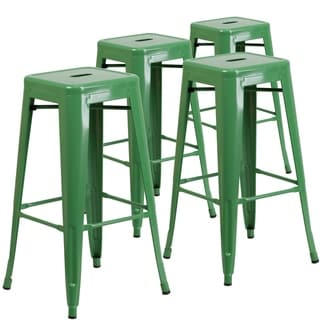 4pk Commercial Grade 30 H Backless Metal Indoor Outdoor Barstool