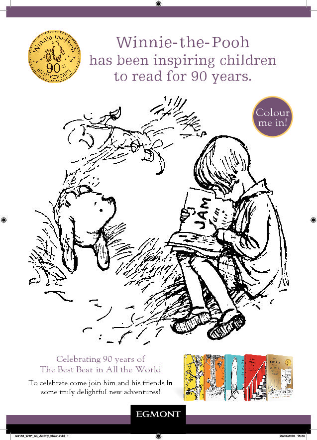 WinniethePooh Colouring Sheet in 2019 Activity sheets
