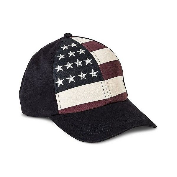 Merona Women S American Flag Baseball Cap Navy 13 Liked On Polyvore Featuring Accessories Hats Navy Me Baseball Cap Baseball Cap Outfit American Flag