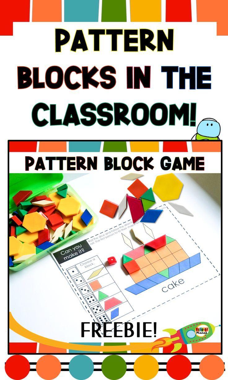 How I Use Pattern Blocks In My Classroom With Freebies Math Blocks Free Math Games Preschool Math [ 1226 x 736 Pixel ]