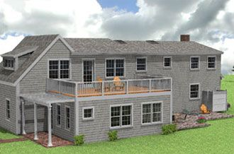 Roof Designs For Additions Flat Addition The Family Room With A Deck Above