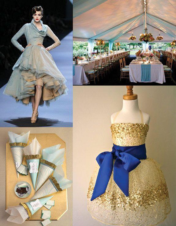 Wedding Colour Palette Dark Blue Light Blue And Gold Wedding