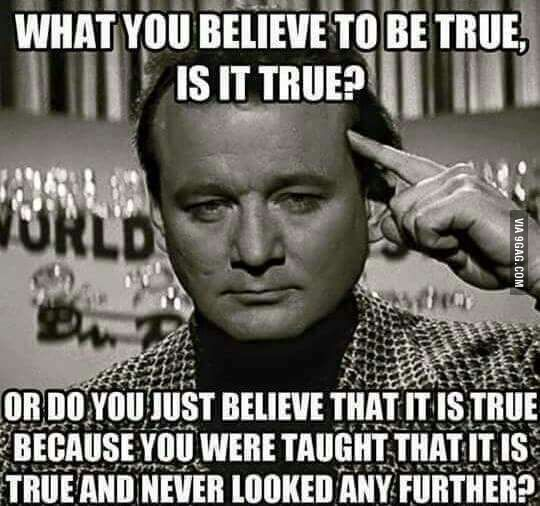 How many sheep just believe blindly?