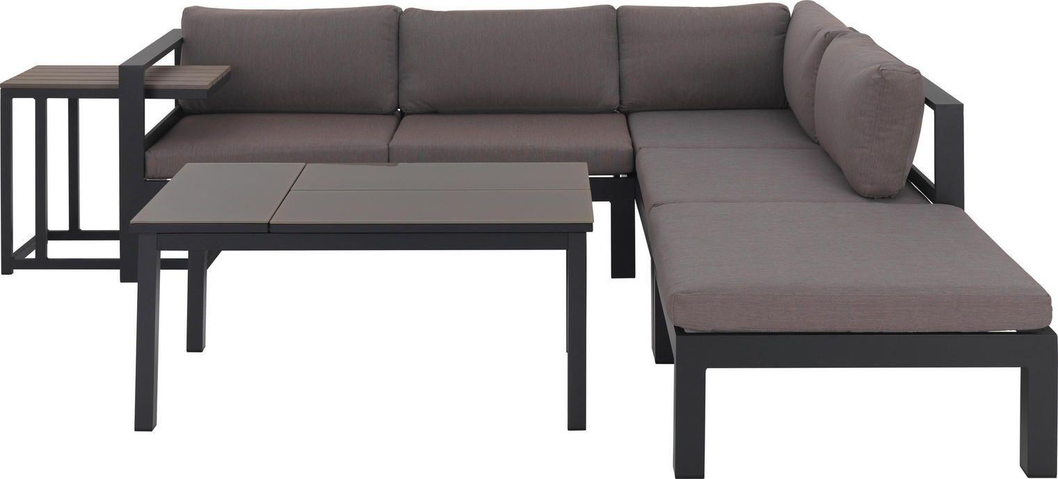 Loungegarnitur 15 Teilig Taupe Anthrazit Design Glas Kunststoff 224 224cm Amatio Lounge Mobel Lounge Garnitur Lounge