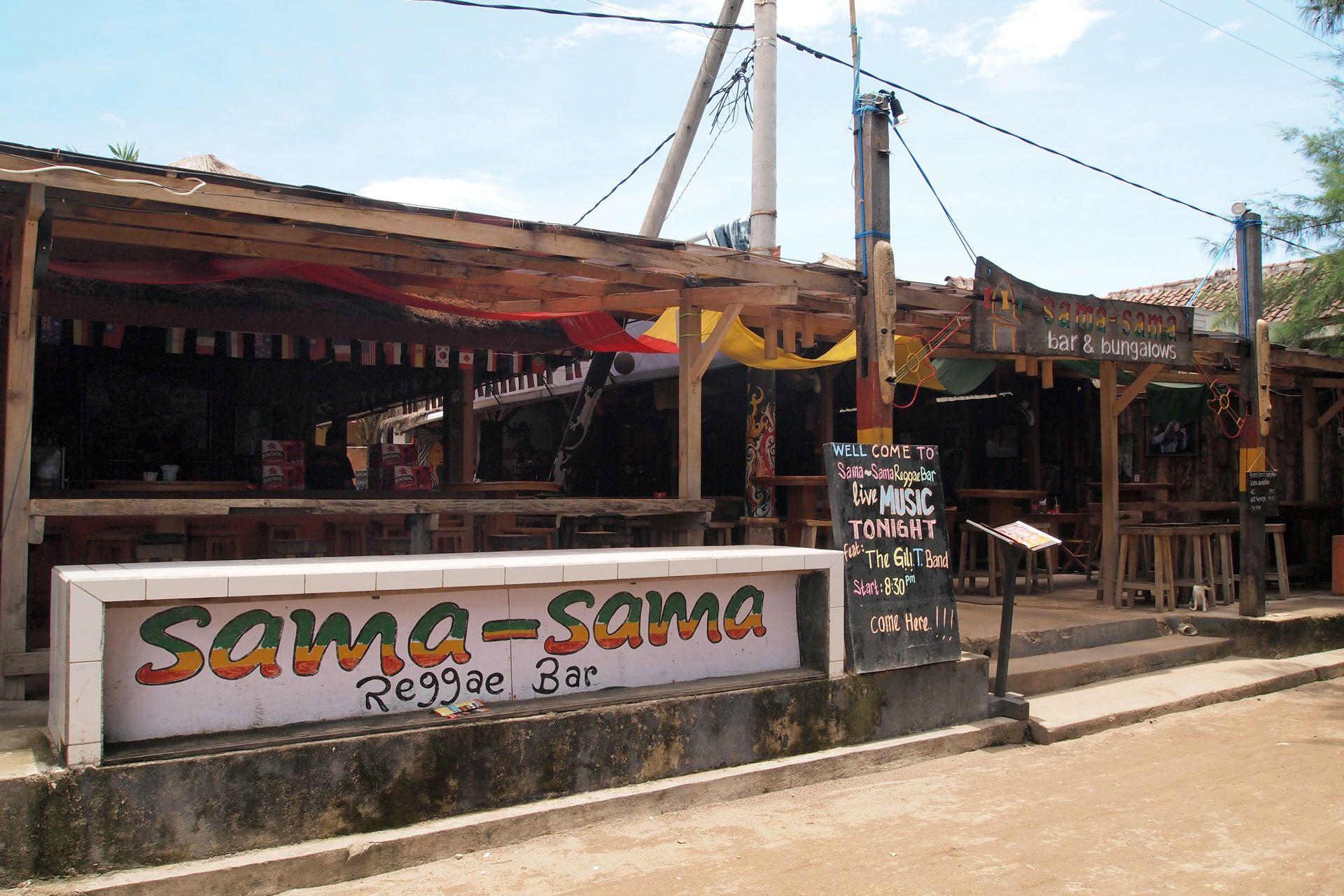 Sama-Sama Reggae Bar, Gili Trawangan | Travel | Pinterest