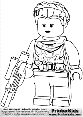 lego star wars padme amidala warrior princess coloring page - Lego Princess Leia Coloring Pages