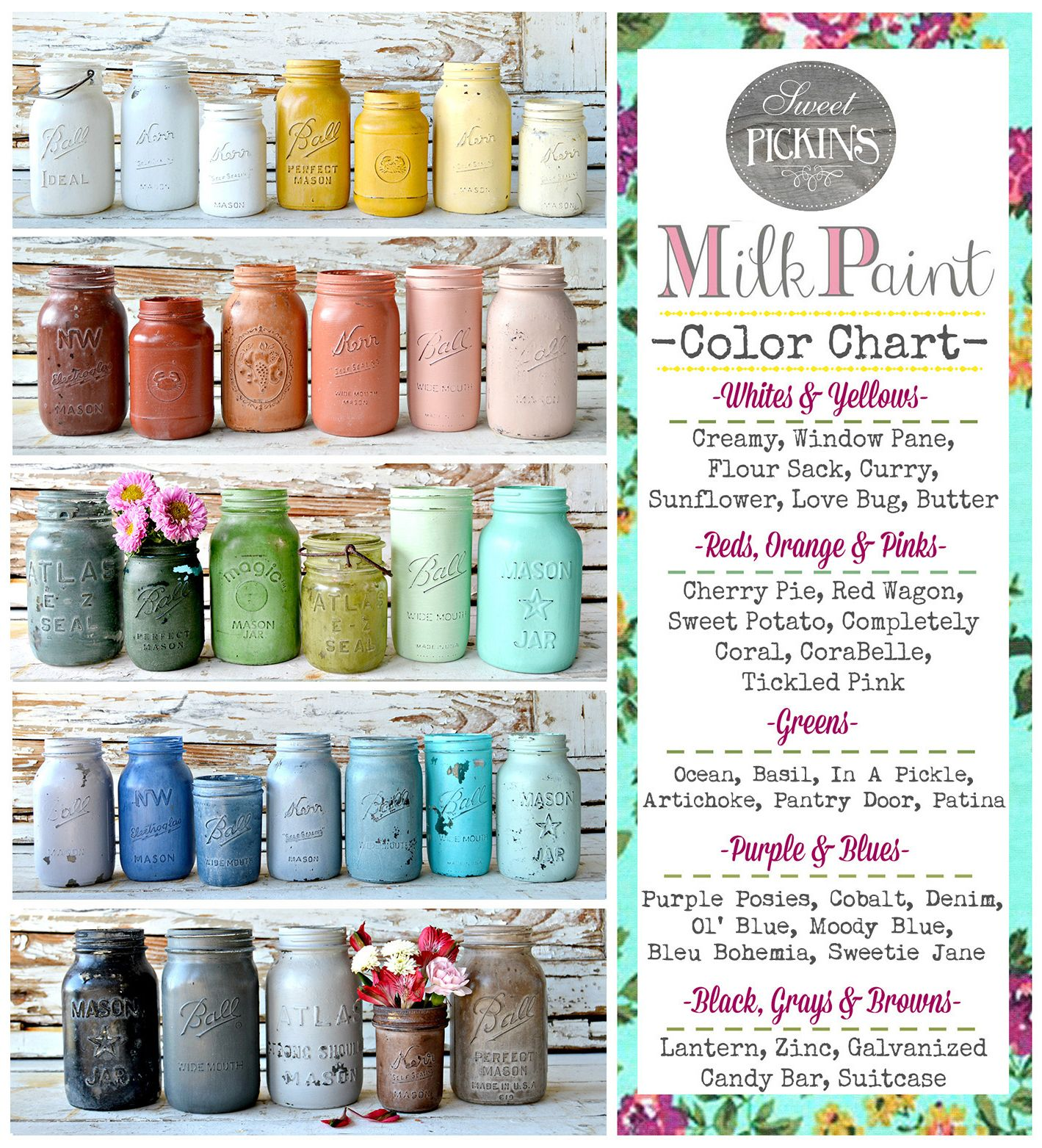 The Beautiful Colors Offered By Sweet Pickins Milk Paint Shop For