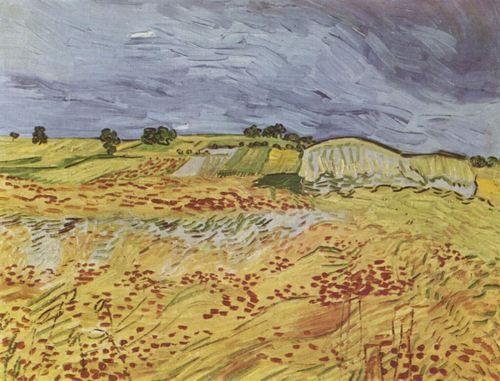 Landschaftsmalerei impressionismus  Vincent Willem van Gogh. Landschaft bei Auvers. 1890, Öl auf ...