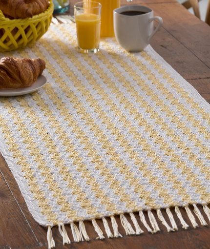 She Sells Sea Shells Runner Free Crochet Pattern in Aunt Lydia's ...