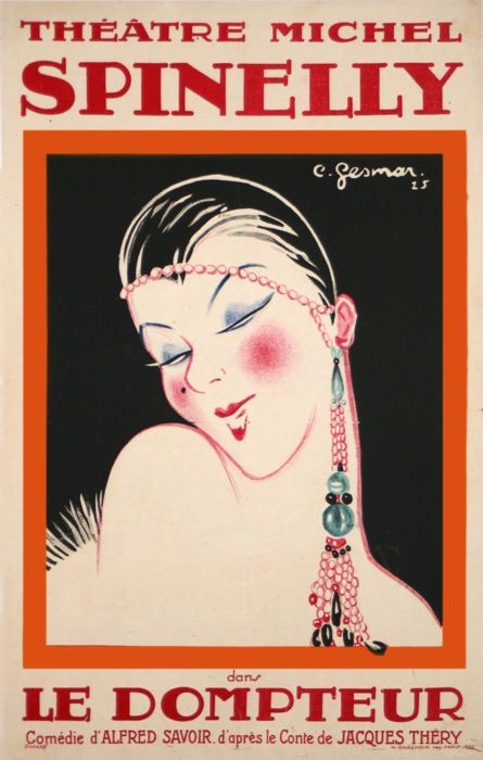 LE DOMPTEUR SPINELLY THEATRE MICHEL (1925) ANTIQUE VINTAGE POSTERS from GESMAR Carl Charles