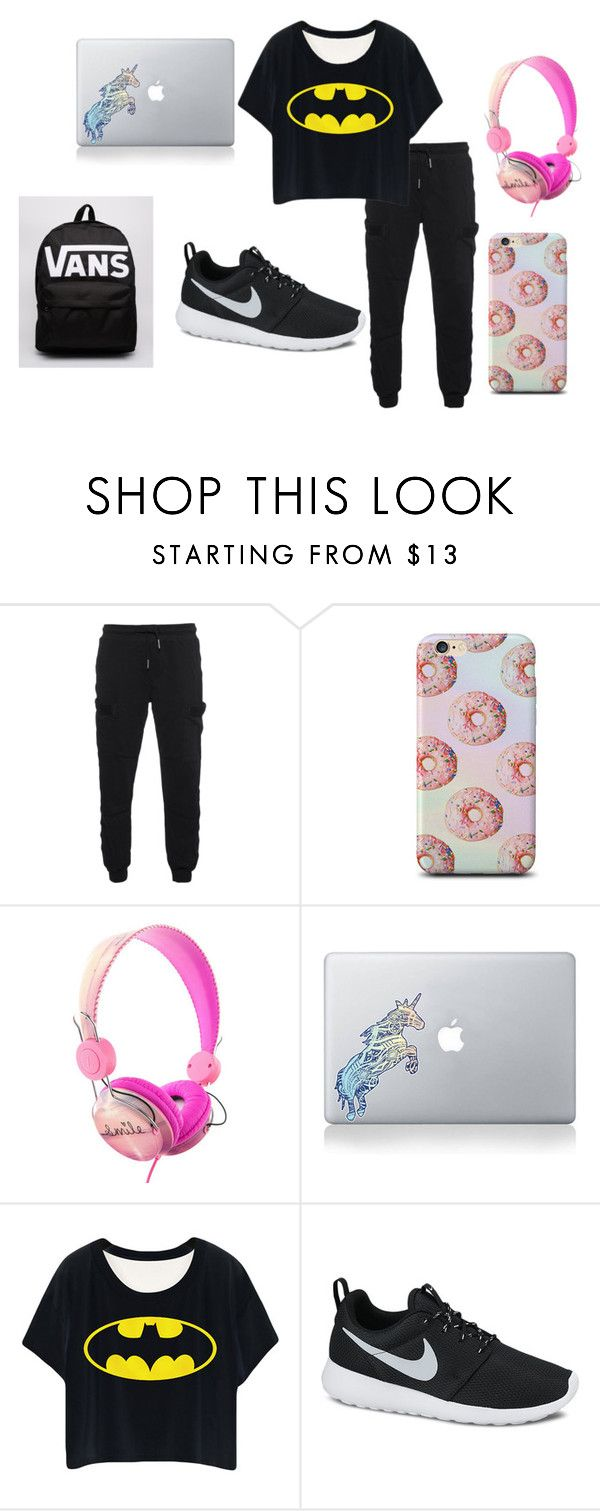 """""""Airplanes"""" by kuztommoxo ❤ liked on Polyvore featuring True Religion, claire's, Vinyl Revolution, NIKE and Vans"""