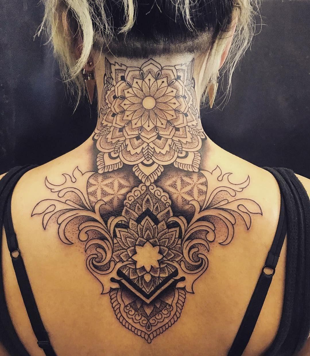 Neck Mandala Tattoo C Evelyn Hankovszki Mandala Tattoo Design Back Of Neck Tattoo Tattoos
