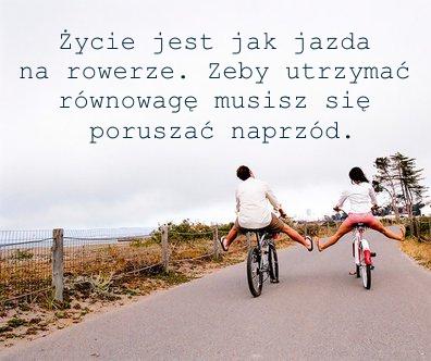 życie Jest Jak Jazda Na Rowerze żeby Utrzymać Równowagę