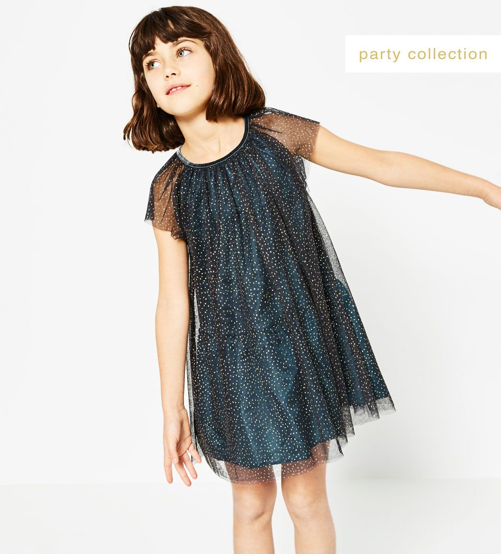 d1aa7a459 GLITTER TULLE DRESS-DRESSES AND JUMPSUITS-Girl-Kids | 4-14 years-KIDS | ZARA  United States