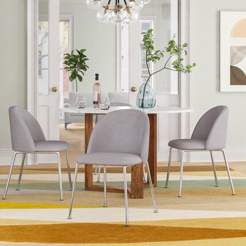 Foundstone Deeter Velvet Upholstered Side Chair Set Of 2 Ad Aff Ad Velvet Upholstered Dining Chair Upholstery Dining Chairs Upholstered Side Chair