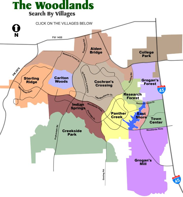 Map Of Woodlands Texas Map Search Properties in The Woodlands, Lake Conroe, Spring TX
