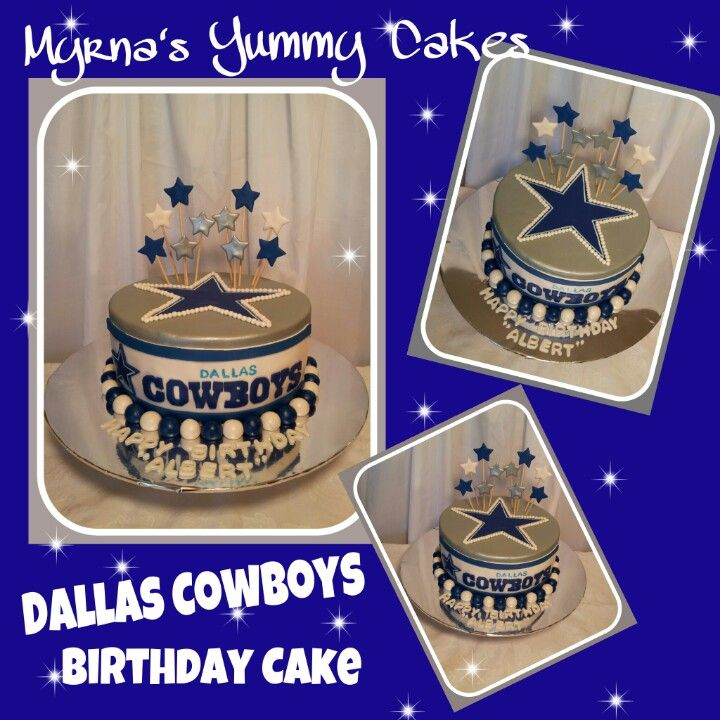Dallas Cowboys Birthday Cake My Yummy Cakes Pinterest Cowboy