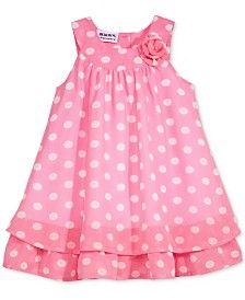 Blueberi Boulevard Dot Print Chiffon Dress Baby Girls 0