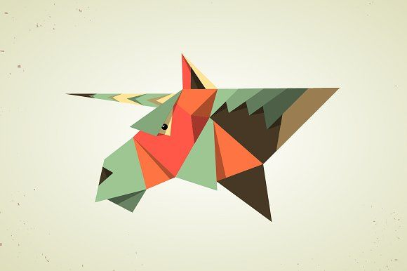 Photo of Magic origami unicorn from paper by Andrew Bzh. on Creative Market