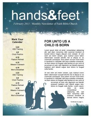 nativity church newsletter template newsie design pinterest
