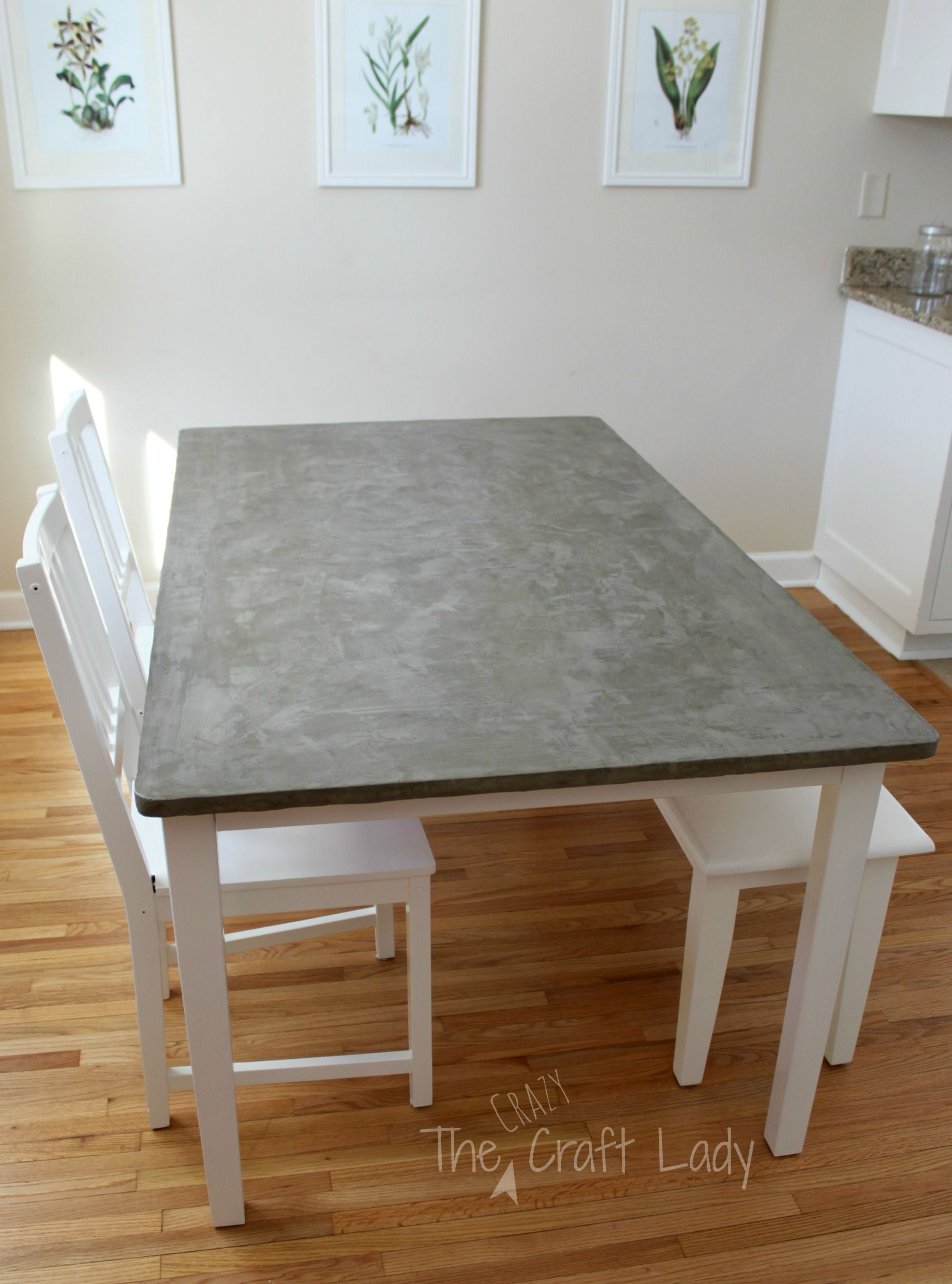 How To Make A Concrete Dining Table Top Using Henry Featherfinish Full Tutorial From The Crazy Craft Lady