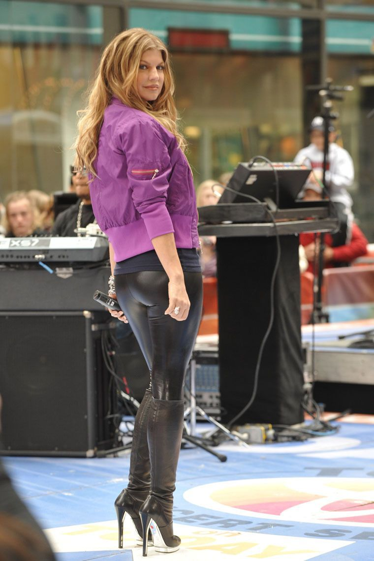 Fergie Leather Pants Fergie Boots
