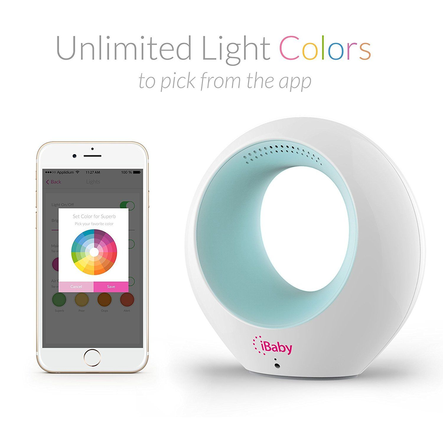 iBaby Air is an air quality monitor and purifier which