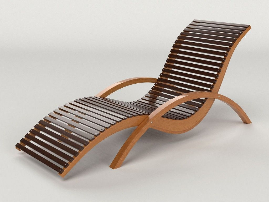 Furniture Wooden Lounge Chairs Outdoor Wooden Chaise