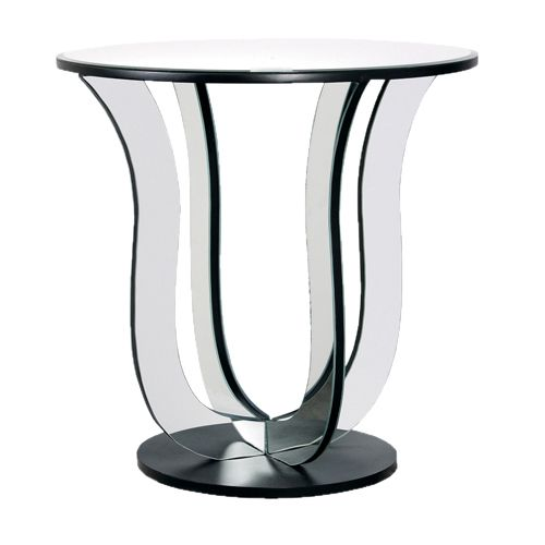 Side Table Compare Tulip Mirrored An Elegant Round Topped