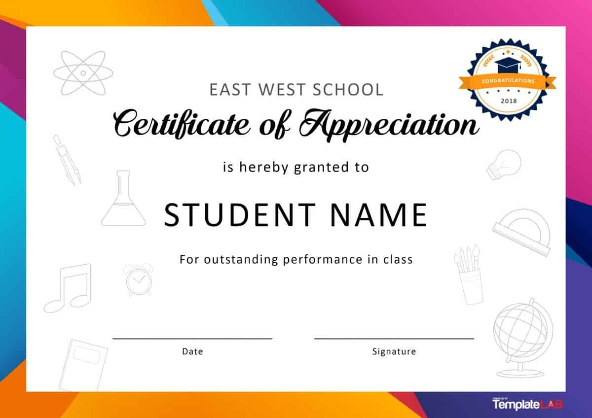 Download Certificate Of Appreciation For Students 01 Certificate Of Recognition Template Student Certificates Certificate Of Appreciation
