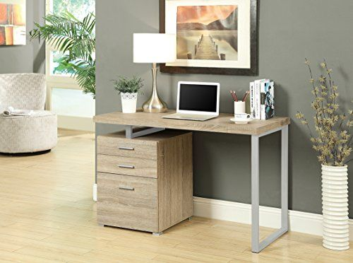 Monarch Reclaimed-Look Left or Right Facing Desk, 48-Inch, Natural
