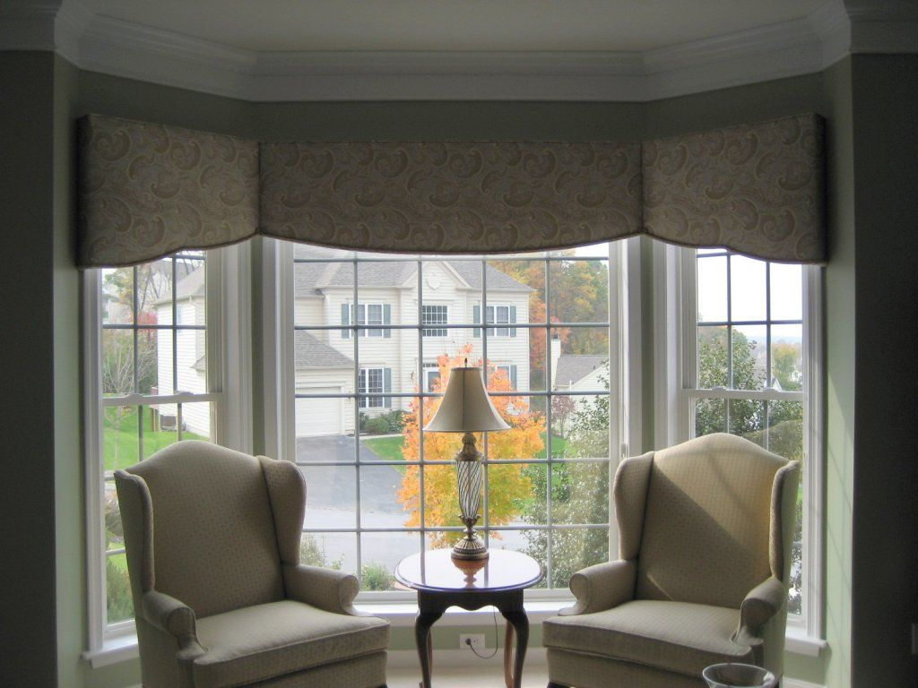 Can You Use Cornice Boards On Bay Windows Google Search Window Treatments Living Room Custom Window Treatments Bay Window Treatments