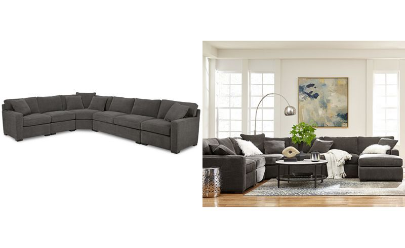 Radley 5 Piece Fabric Sectional Sofa With Apartment Sofa, Created For Macyu0027s