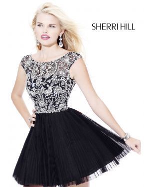 Sherri Hill 2814 Emerald Black Short Prom Dress ->-> pretty but not exactly  what I'm looking for.