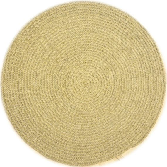 premium jute area rug 8ft 240cm large natural jute rug hand crochet no051
