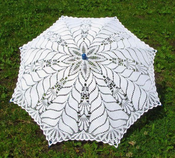 Зонтик крючком схема вязания | ganchillo | Pinterest | Sombras ...
