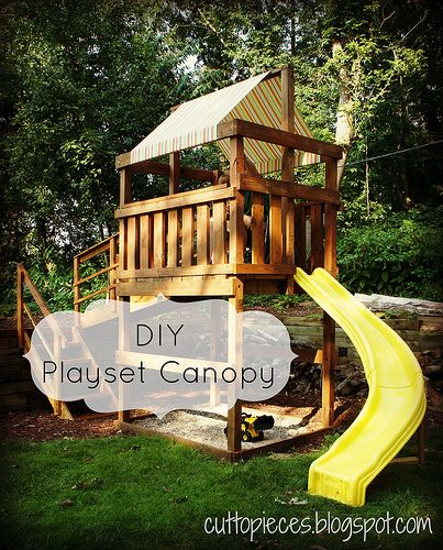 Diy Playset Canopy Cut To Pieces Crafty Craftings Pinterest
