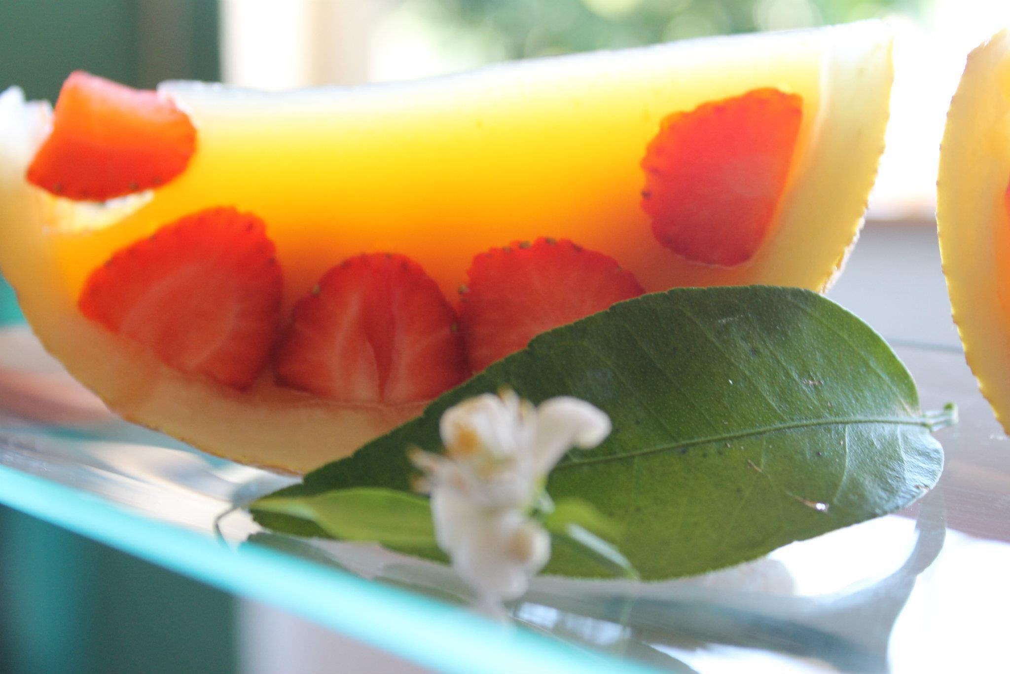 Melón de naranja y fresa