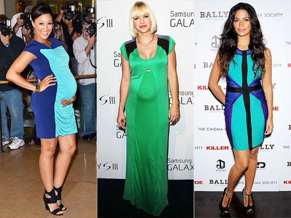1 trend 3 ways colorblock maternity dresses