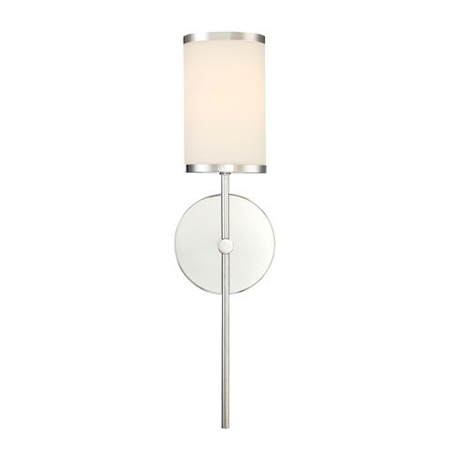 Merveilleux 251 First Nicollet Chrome One Light Wall Sconce With Etched Opal Glass Shade