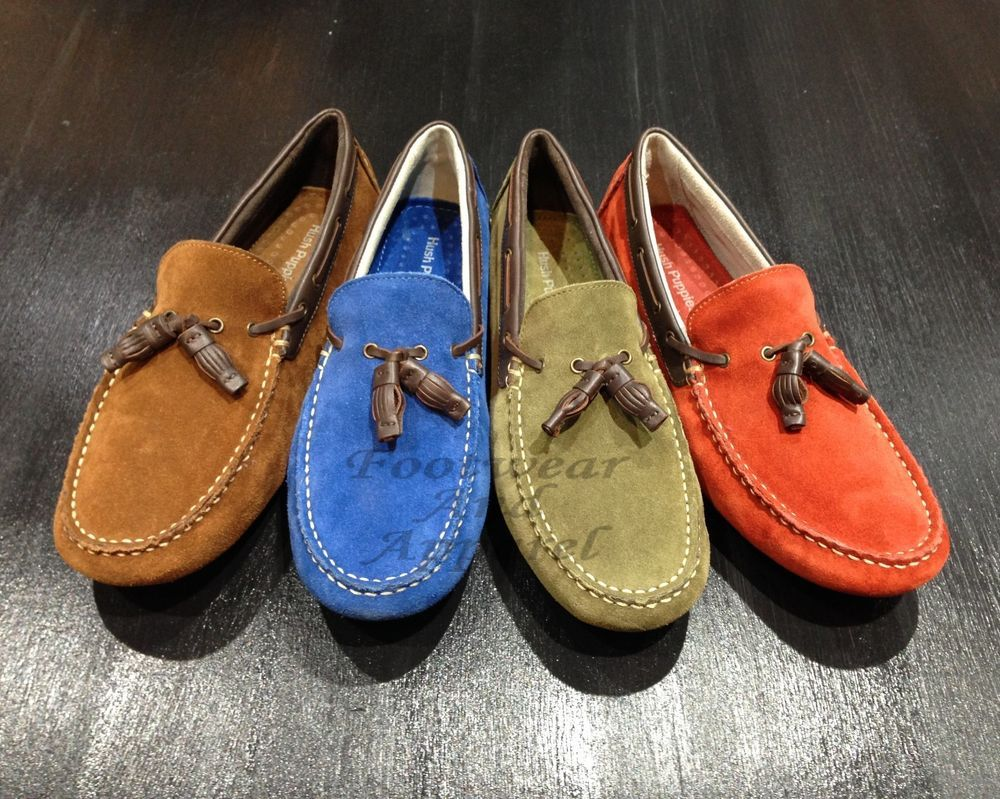 HUSH PUPPIES Made In India Men's Suede Driving Moccasins MONACO SLIP ON TASSEL  #HushPuppies #Driving #Moccasins