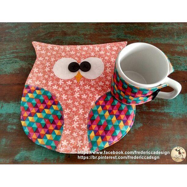 Adesivo De Herpes Labial ~ mug rug Fredericca Design (artesanato em tecido com técnicas de patchwork e idéias bacanas
