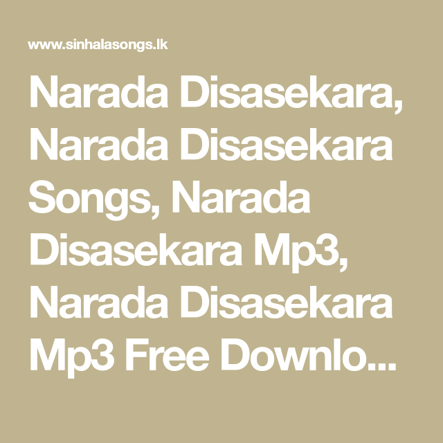 narada disasekara mp3 songs free download