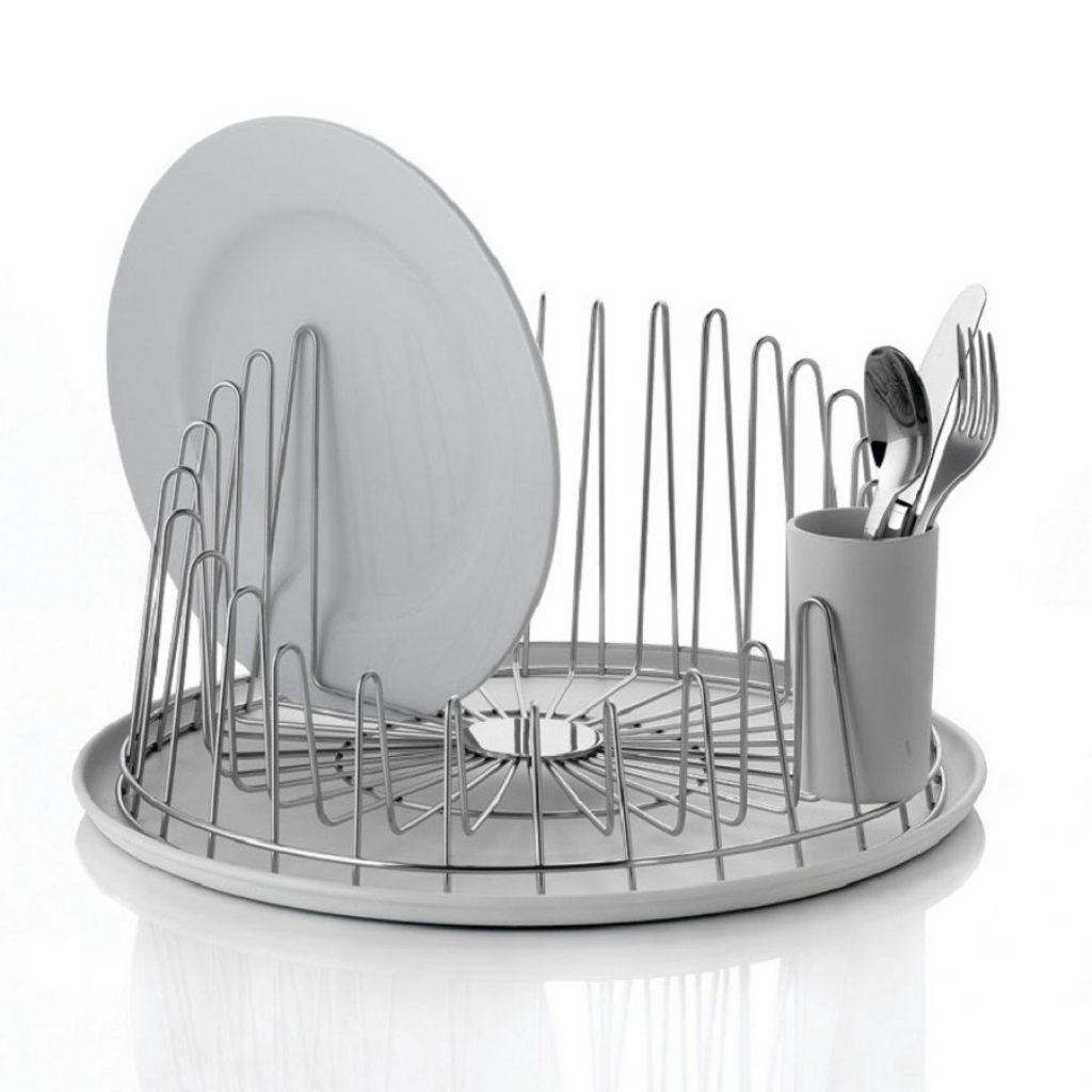Round Kitchen Sink Dish Drainer