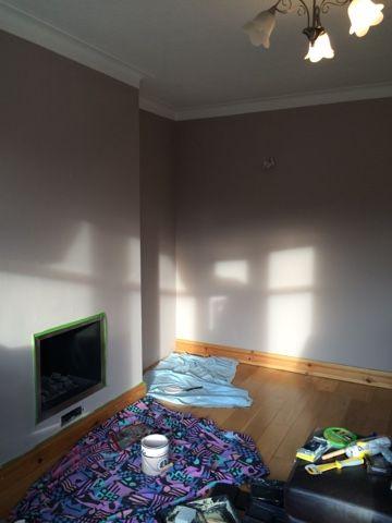Living Room Makeover - Little House Lovely / paint in progress