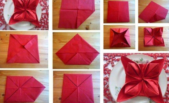 servietten falten zu weihnachten anleitung tischdeko teller faltkunst. Black Bedroom Furniture Sets. Home Design Ideas