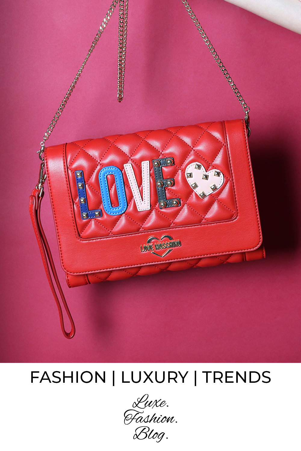 Buy Love Moschino Bag | Red Bag | Outlet Prices |