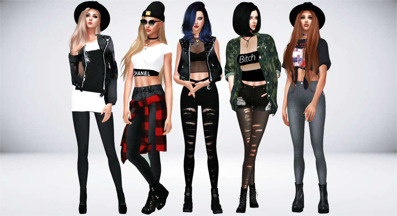 Sims 4 leather jacket tumblr